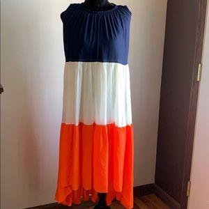 Dresses & Skirts - Color block chiffon dress